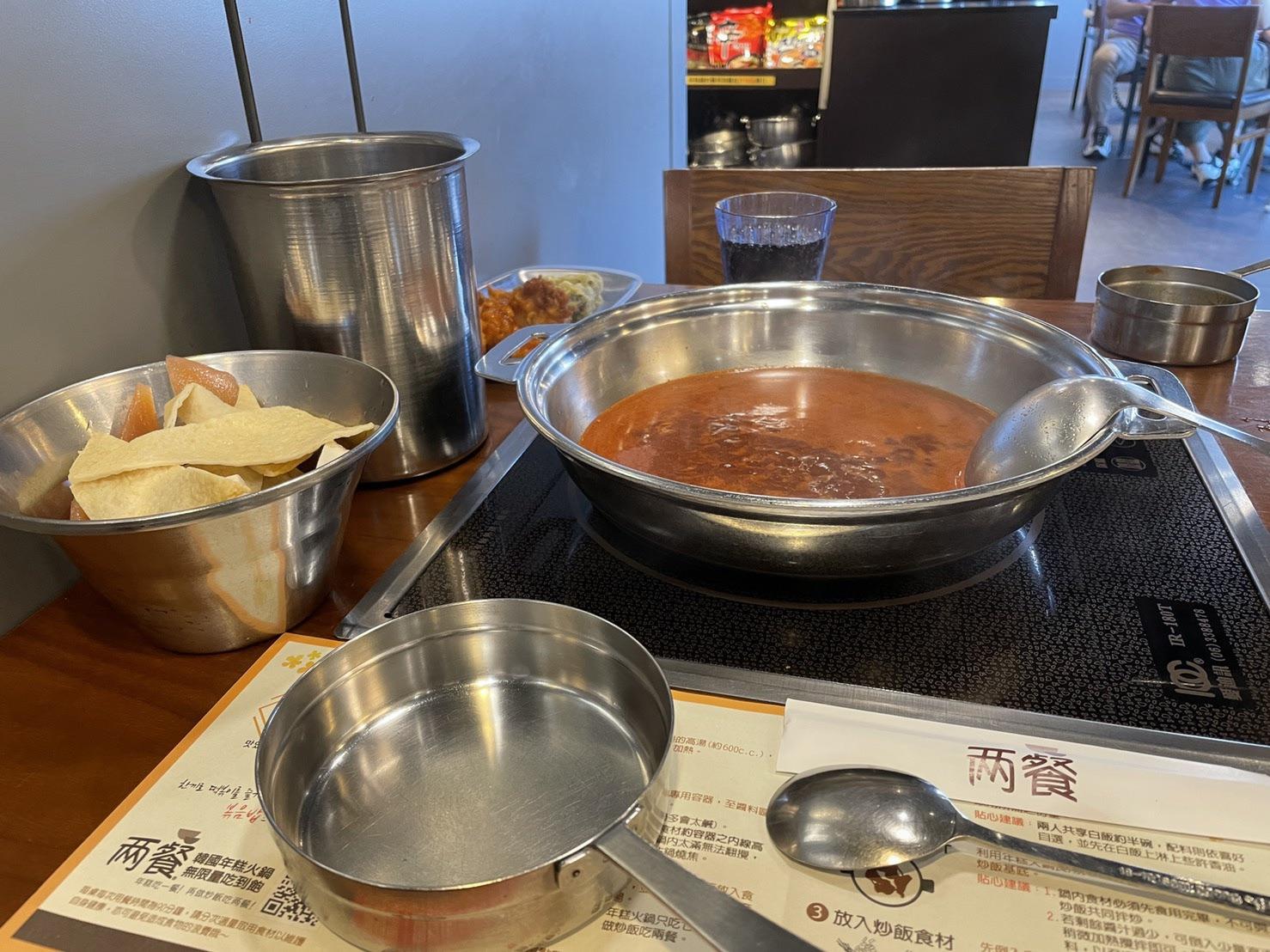『 兩餐 』 두끼 韓國年糕火鍋吃到飽 中壢店