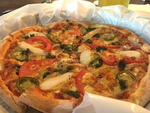 手在比薩 Hand on the pizza